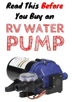 RV Water Pump Buying Guide | Find the cheapest, quietest, and highest-quality water pumps for your rig!
