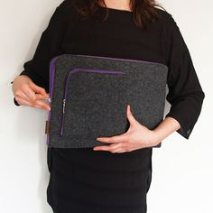 ETUI NA LAPTOPA i ZASILACZ 02 fioletowy zamek #laptopcover #pokrowiec #nalaptopa #macbook #sleeve