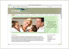 Web site design © Think Baseline, for Capital Oncolocy & Hematology, COHA (medical) #web design #graphic design caponc.com