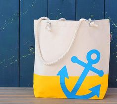 Ahoy! Anchor tote by Damask Love. Make It Now with the Cricut Explore machine in Cricut Design Space.