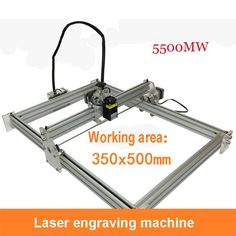 831.45$  Buy now - http://ali1hu.worldwells.pw/go.php?t=32723479649 - 2PCs 5500mw laser machines, large format 350mm * 500mm  Wate laser engraving machine, DIY mini laser engraving machine 831.45$