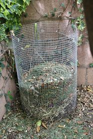 home made compost holder