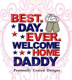 Instant Download Military Best Day Ever Welcome by GracedDesign