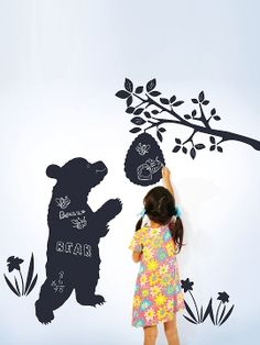 Chalk Bear Decals from Whimsical Decals & More Feat. Wallcandy on Gilt