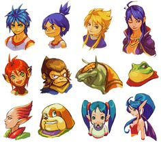 View an image titled 'GBA Characters Portraits Art' in our Breath of Fire II art gallery featuring official character designs, concept art, and promo pictures. Character Concept, Character Art, Concept Art, Character Design, Manga, Breath Of Fire, L'art Du Portrait, Different Art Styles, Fire Art