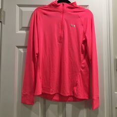 Under armour semi fitted light weight 3/4 zip up Worn only once in perfect condition!! Very light weight Under Armour Tops Sweatshirts & Hoodies