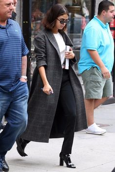 0208abefbfd0 Selena Gomez Just Wore the Statement Coat You Want in Your Closet This Fall  Selena Gomez