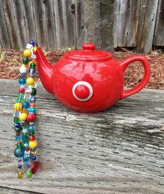 Repurposed Tea Pot Art Upcycled Garden Decoration by mscenna