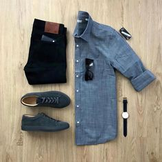 casual mens fashion are look trendy! 024897 - Michelle's Mens Fashion Ideas - - casual mens fashion are look trendy! Casual Wear, Casual Outfits, Men Casual, Fashion Outfits, Fashion Shirts, Casual Shirt, Style Masculin, Herren Outfit, Outfit Grid