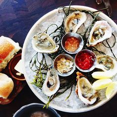 oysters at water grill, santa monica