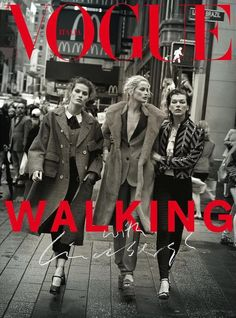 Vogue Italia October 2016 Cover, Carolyn Murphy, Isabeli Fontana, Milla Jovovich by Peter Lindbergh and Julia von Boehm.
