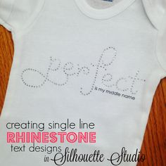 The Trick to Designing Single Line Rhinestone Text in 3 Steps in Silhouette Studio ~ Silhouette School