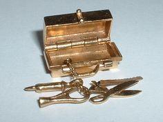 Vintage 14k Gold Medical Bag Charm