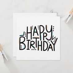 Shop Imperfect Happy Birthday Card created by MangoJango. Best Friend Birthday Cards, Creative Birthday Cards, 18th Birthday Cards, Simple Birthday Cards, Homemade Birthday Cards, Bday Cards, Birthday Cake, Diy Birthday Poster, Diy 18th Birthday Gifts