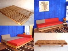 L07 Banquette a Coulisse bed - by Pierre Chapo - Chapo Creation