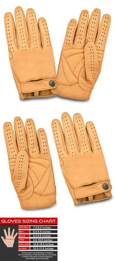 COS MEN/'S CHAUFFEUR REAL SHEEP NAPPA LEATHER CAR DRIVING GLOVES TRUCKING RIDING