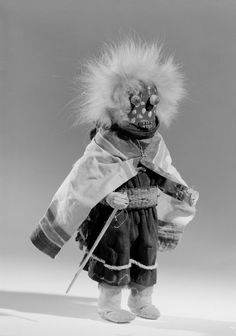 Atashlaskja Okya kachina, Zuni, Brooklyn Museum, 1903 expedition