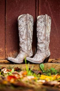 Southern country wedding idea - cowboy boots as bridal shoes! {Life's Art Photography}