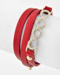 Double infinity wrap bracelet $12.00