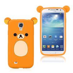 Cute Bear (Oransje) Samsung Galaxy S4 Deksel