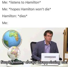 gotta love the accuracy. and the fact that it's two things I love: John Green and Hamilton