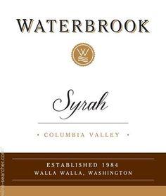 Waterbrook Syrah, Columbia Valley, USA