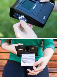 Digital Instant Camera by Poloroid, now you can print from an SD Card! I see a christmas present in my near future.