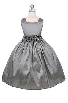 flower girl dress but white and maybe ribbon in deep purple