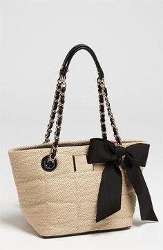 kate spade new york 'signature spade - mini coal' shoulder bag