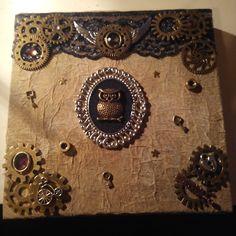 My last work ! Steampunk notebook !!