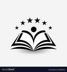 Education logo open book dictionary vector image on VectorStock Logo For School, Education Logo Design, Find Logo, Book Logo, Star Logo, Open Book, Illustration, Vector Free, Graphic Design