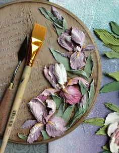Magical colors, magical works - DIY paintings by Moscow artist Helga Soloveva - Page 10 of 50 - slleee Sculpture Painting, Wall Sculptures, Diy Painting, Plaster Paint, Plaster Crafts, Paper Mache Clay, Clay Art, Flower Drawing Tutorials, Knife Art