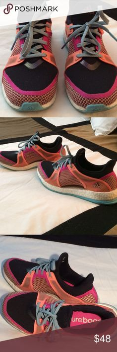 Adidas Pure Boost Running Shoes Adidas Pure Boost Running Shoes, Worn only a few times excellent condition. No returns no trades. Woman's Size 7 Adidas Shoes Athletic Shoes