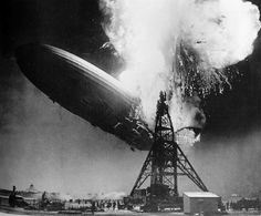 May 1937 — In this photo, the passenger-carrying airship Hindenburg is seen at the moment of exploding midair in Lakehurst, New Jersey. The disaster claimed the lives of 36 and marked the end of the era of passenger-carrying airships. History Photos, History Facts, World History, History Icon, History Timeline, History Education, Teaching History, Famous Photos, Iconic Photos
