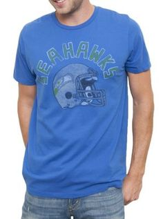 NFL Seattle Seahawks Vintage Inspired Kick Off Crew - - Junk Food Clothing