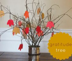 A Gratitude tree--great idea for Thanksgiving