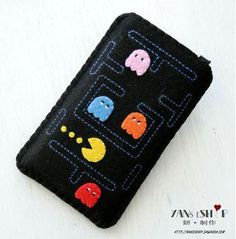 Your Gadgets Never Felt So Good   Felt Tech Case: Pac Man Phone Case