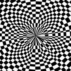 Trippy black and white pattern