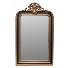 Paloma Ornate Black And Gold Mirror