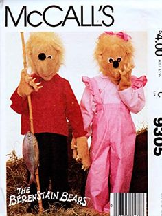 Berenstain Bears, Costume Patterns, Amazon Art, Girl Costumes, Sewing Stores, Vintage Sewing Patterns, Party Gifts, Sewing Crafts, Boy Or Girl