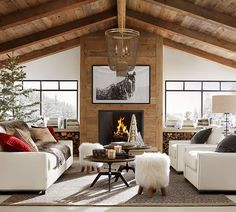 Cozy Rustic Farmhouse Living Room Remodel and Design Ideas 21 Chic Living Room, Home Living Room, Living Room Designs, Living Room Decor, Room Additions, Living Room Remodel, Cabin Homes, Great Rooms, Family Room