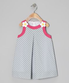 a look at this Light Blue Polka Dot Swing Dress - Toddler & Girls by Katie & Co.Take a look at this Light Blue Polka Dot Swing Dress - Toddler & Girls by Katie & Co. Frocks For Girls, Kids Frocks, Toddler Girl Dresses, Toddler Girls, Little Girl Dresses, Girls Dresses, Girl Dress Patterns, Kind Mode, Baby Dress