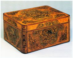 Fabulous 18th century marquetry box.