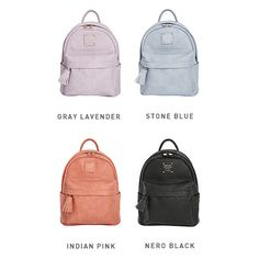 Colors of Nuevo cute leather backpack