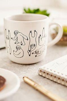 Sloth Print 15 oz. Graphic Mug