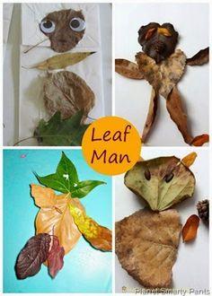 Preschool Fall Art: Leaf Man |Planet Smarty Pants