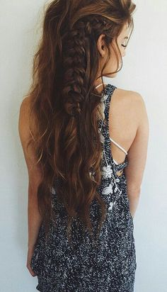 Image via We Heart It #beauty #braid #hair #long #style
