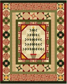 Always the Season BOM, now available as a kit from quiltedChristmas.com.  #quilt #kit #Christmas