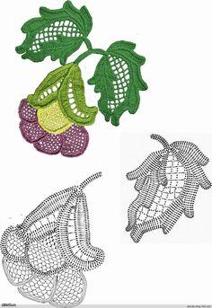 Pasatiempos entre hilos y puntadas: Flores y hojas