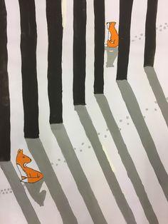 Light & shadow: Fox in the snow - SCHÖN. - Light & shadow: Fox in the snow – SCHÖN. Art Education Lessons, Art Lessons, 2nd Grade Art, Shadow Art, Art Plastique, Teaching Art, Light And Shadow, Art School, Art For Kids